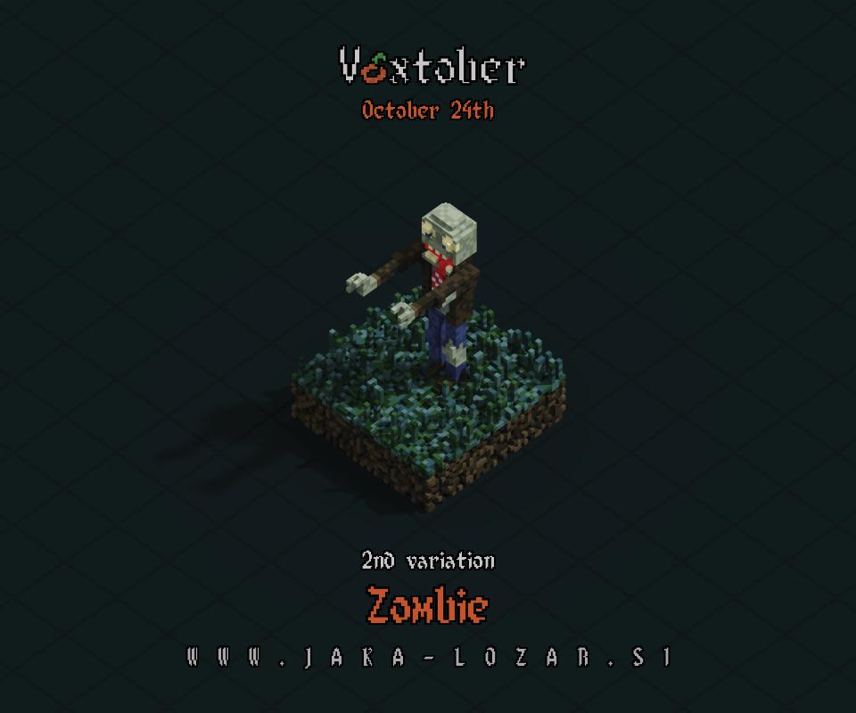 Jaka Lozar Voxtober 2020 Image Day 24 Zombie