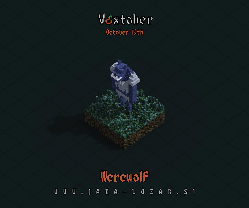 Jaka Lozar Voxtober 2020 Image Day 19 Werewolf