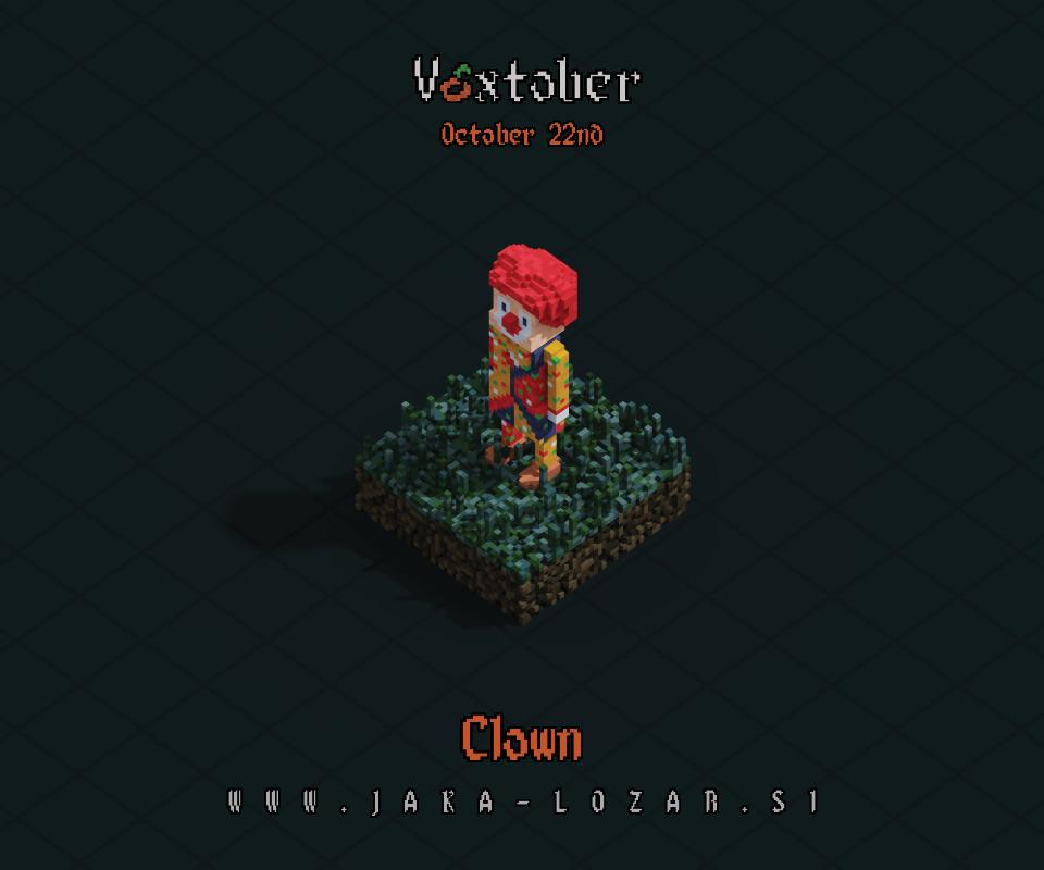 Jaka Lozar Voxtober 2020 Image Day 22 Clown