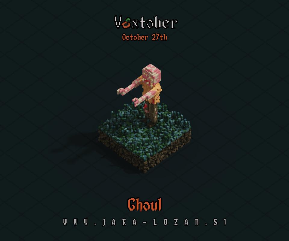 Jaka Lozar Voxtober 2020 Image Day 27 Ghoul
