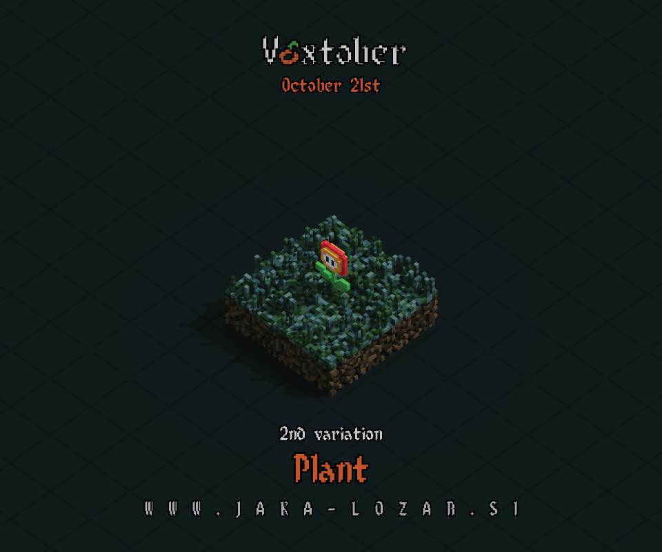 Jaka Lozar Voxtober 2020 Image Day 21 Plant