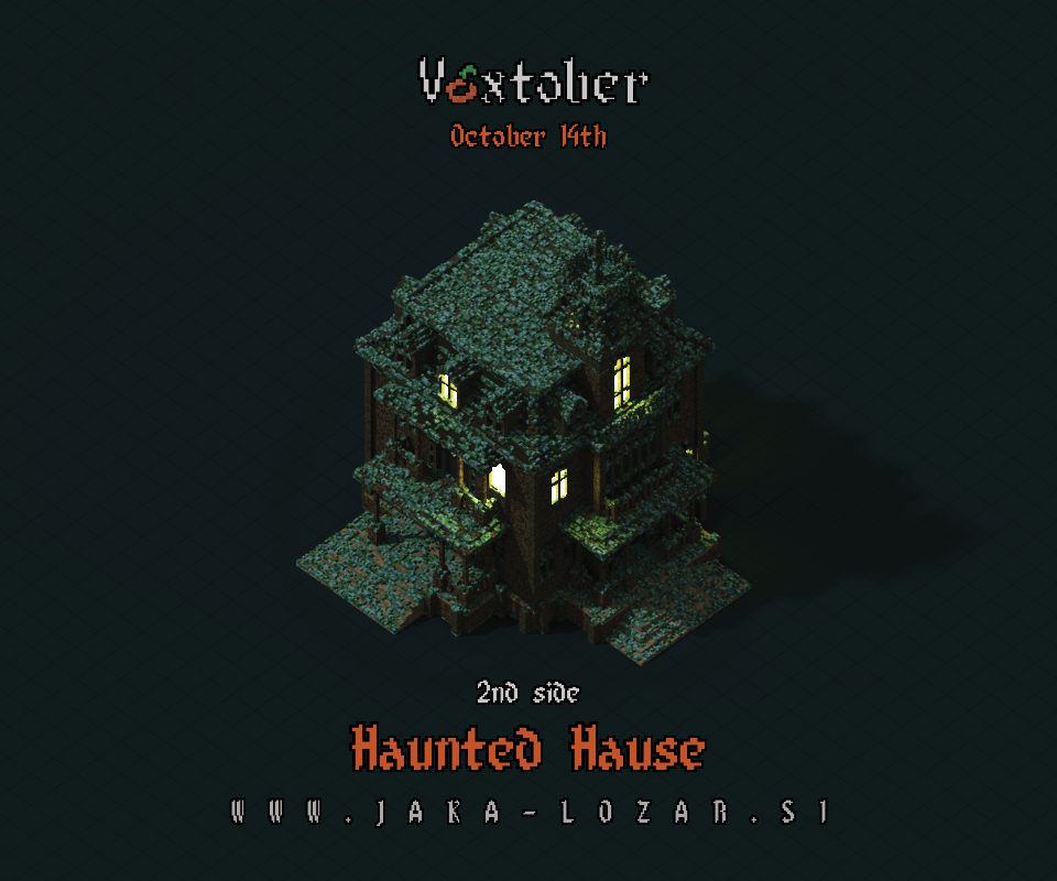 Jaka Lozar Voxtober 2020 Image Day 14 Haunted House