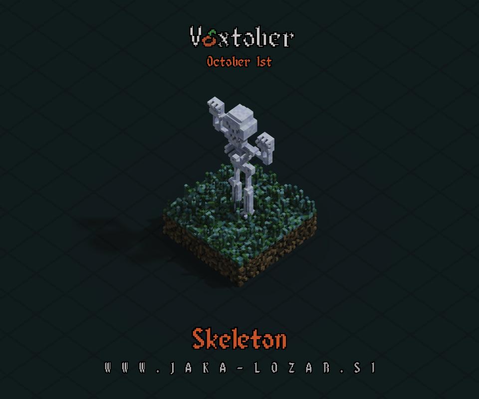 Jaka Lozar Voxtober 2020 Image Day 1 Skeleton
