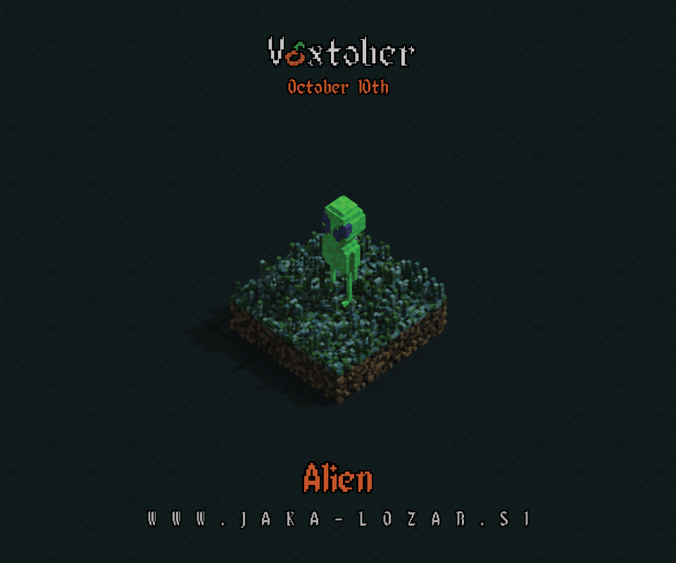 Jaka Lozar Voxtober 2020 Image Day 10 Alien