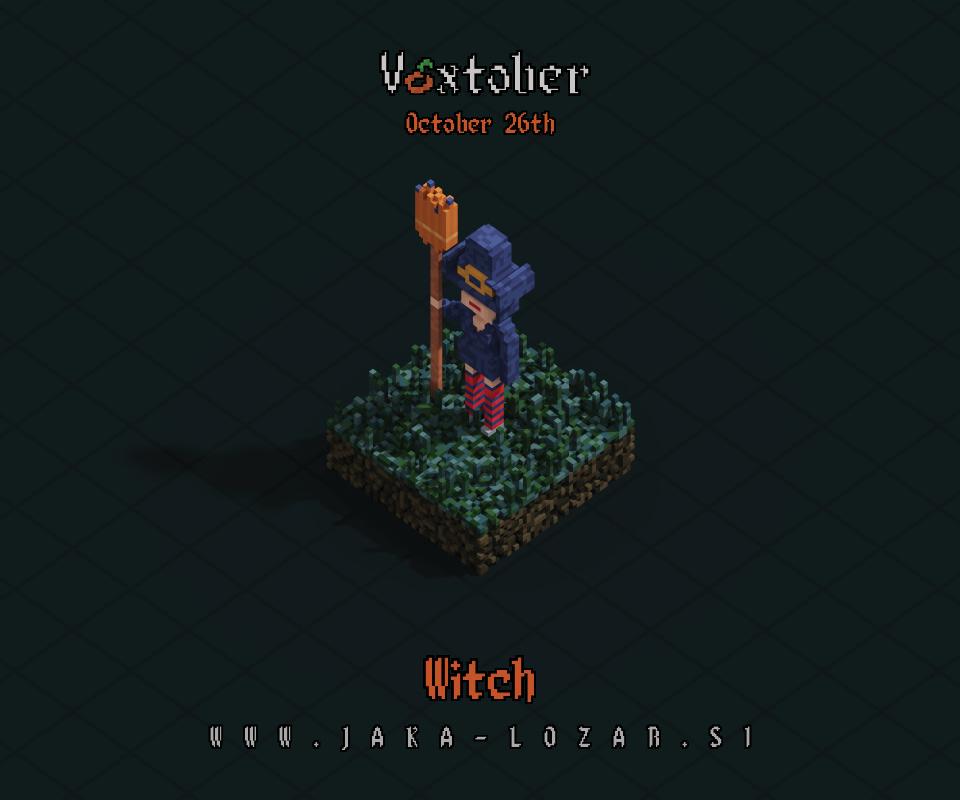 Jaka Lozar Voxtober 2020 Image Day 26 Witch
