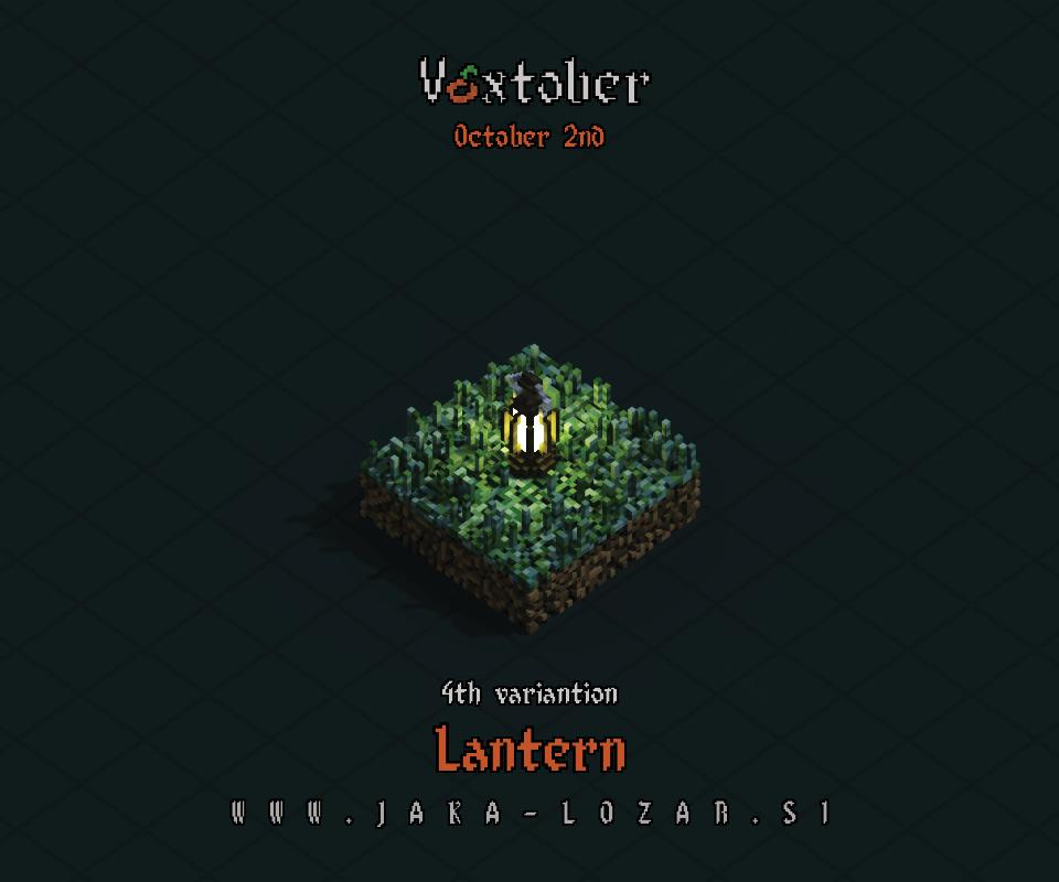 Jaka Lozar Voxtober 2020 Image Day 2 Lantern