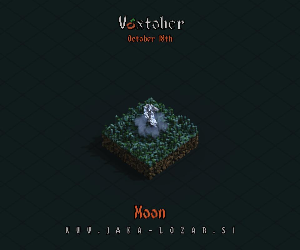 Jaka Lozar Voxtober 2020 Image Day 18 Moon